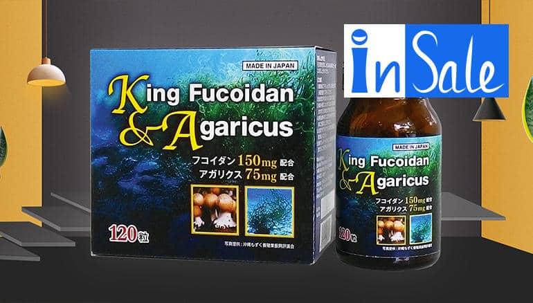 King Fucoidan & Agaricus là thuốc bổ tăng sức đề kháng cho người lớn