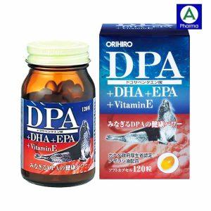 DPA DHA EPA Vitamin E Orihiro Nhật 120 viên – Bổ não, sáng mắt