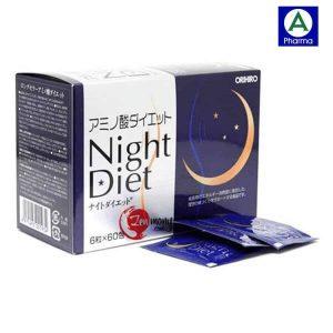 Night Diet Orihiro 60 gói – Viên uống hỗ trợ giảm cân Nhật Bản